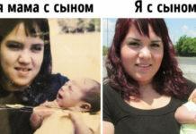 Эти семейные фото почти не меняются, хотя сделаны с разницей в десятки лет