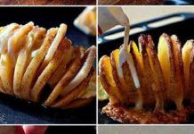 Вот так ты сделаешь запеченный картофель не только очень вкусным, но и аппетитным на вид!