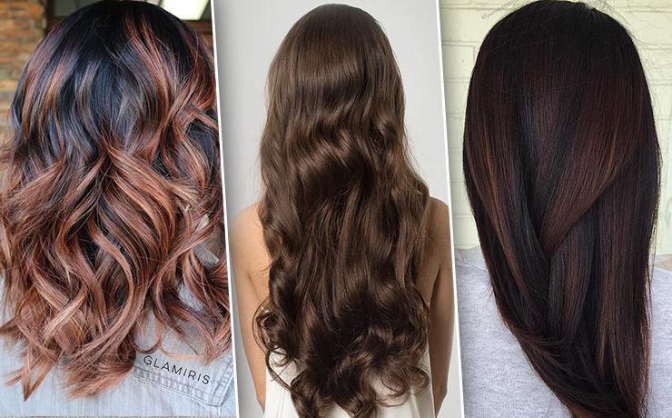 Коричневый цвет волос с бликами
