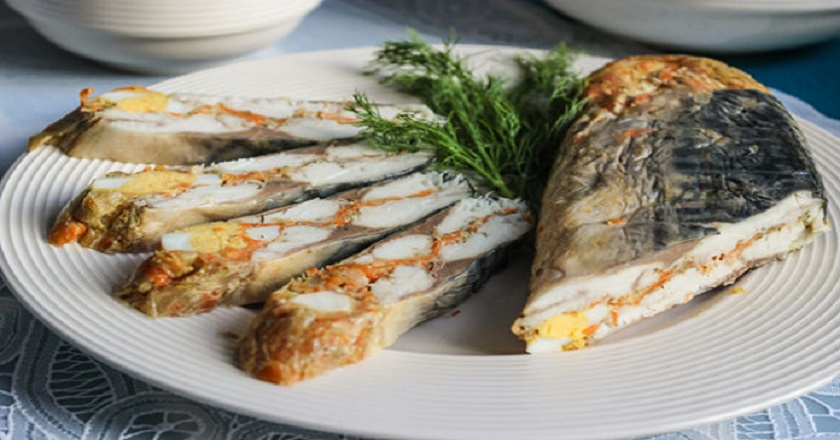 Slavnetsky mackerel roll! One of my author appetizers.