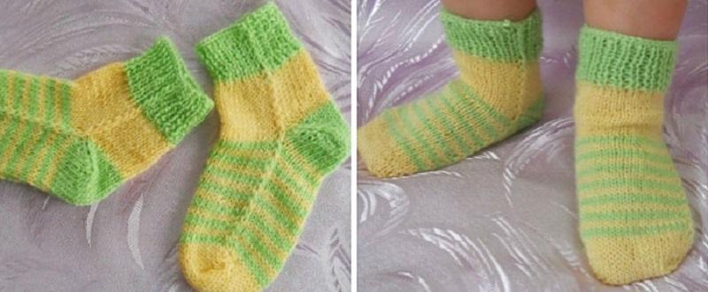 Умелица ловко вяжет носки на двух спицах! Так легко, что справится даже новичок!