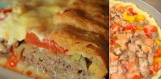 Деревенский мясной пирог на картофельном тесте: необычайно сочный и ароматный!