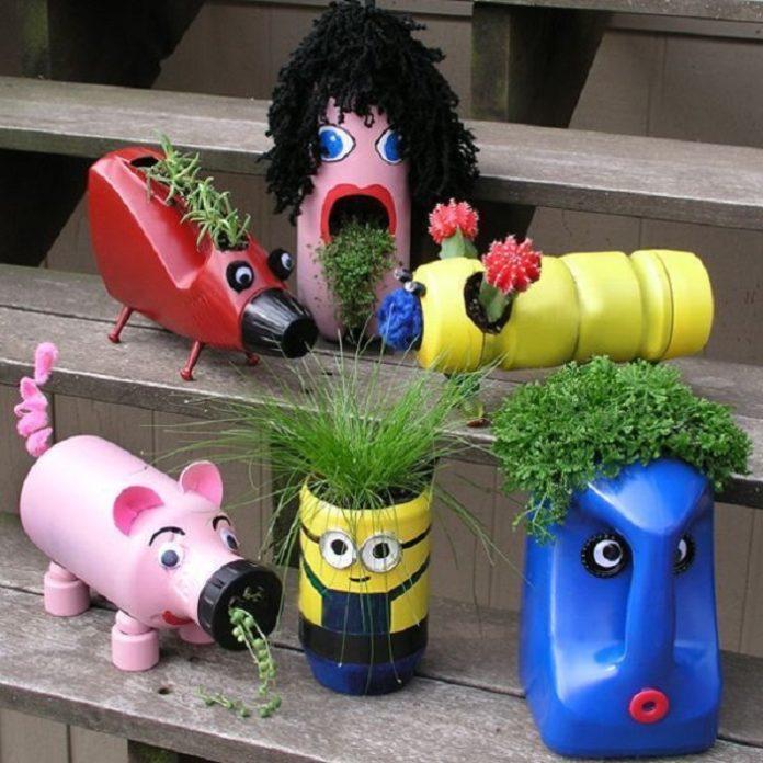 Поделки из пластиковых бутылок для выставки в детский сад