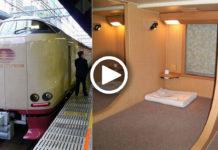 Японский поезд, плацкарт в котором очень удивит европейских пассажиров
