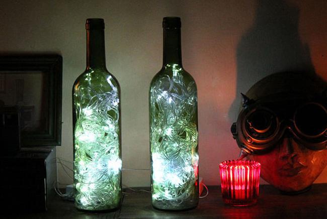 Перестань выбрасывать бутылки от вина! Ты будешь очарован вещами, которые можно из них сделать. Изящные детали интерьера.
