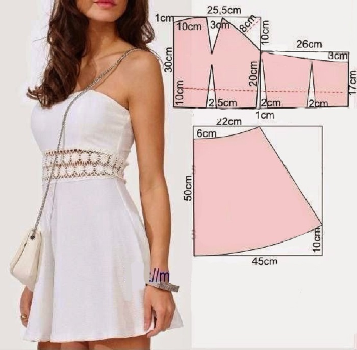 Летнее платья выкройки фото схемы