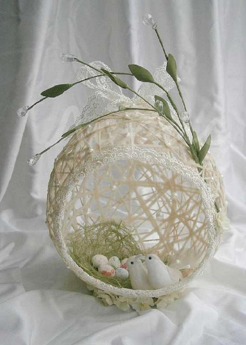 Сделала с дочерью восхитительное яйцо-гнездо к Пасхе. Только посмотри на это чудо!