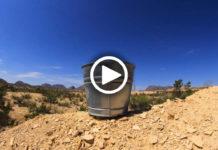 Видеокамера на дне ведра с водой сняла любопытные кадры с пьющими животными