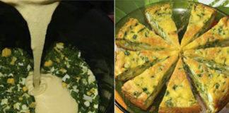 Быстрый пирог с яйцами и луком: всякий раз бесподобным получается!