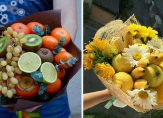 Букеты из фруктов своими руками