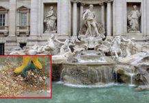 Почти 1,5 миллиона евро достали из фонтана Треви в Риме