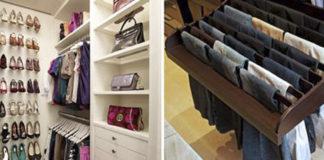 Вспышка вдохновения! 26 идей для гардеробной комнаты и даже для комнатушки.