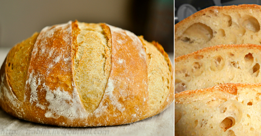Homemade bread without kneading: the recipe is simple, two, three! Lush, fragrant, with a crunchy crust you get &#55357&#56845