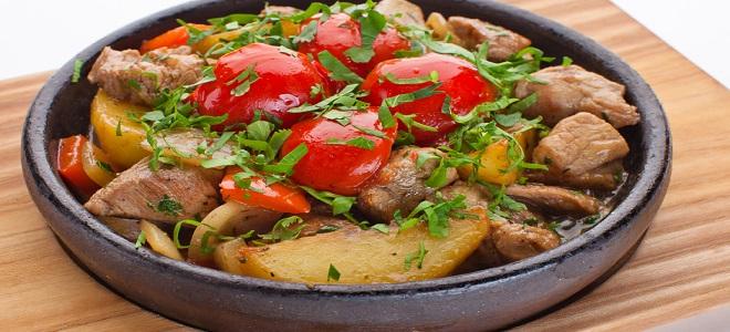 мясо на кеци рецепт