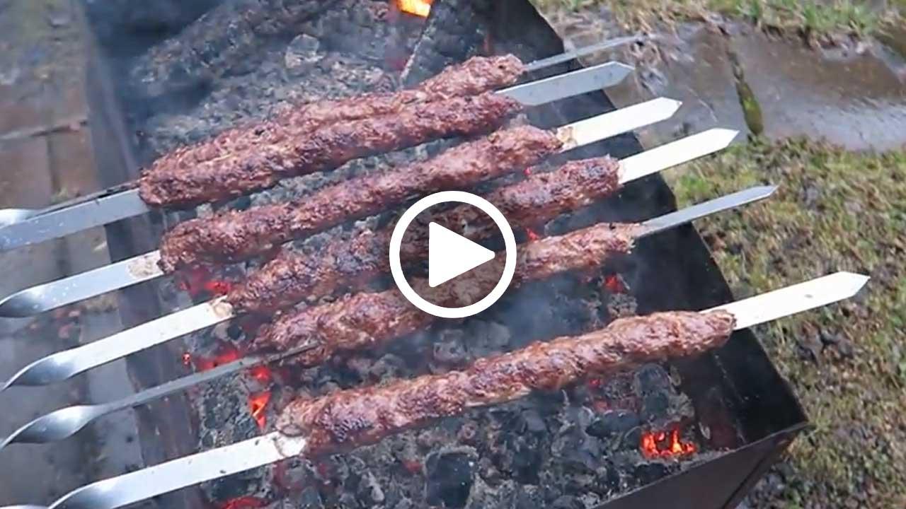 Люля-кебаб в домашних условиях на мангале из говядины 372