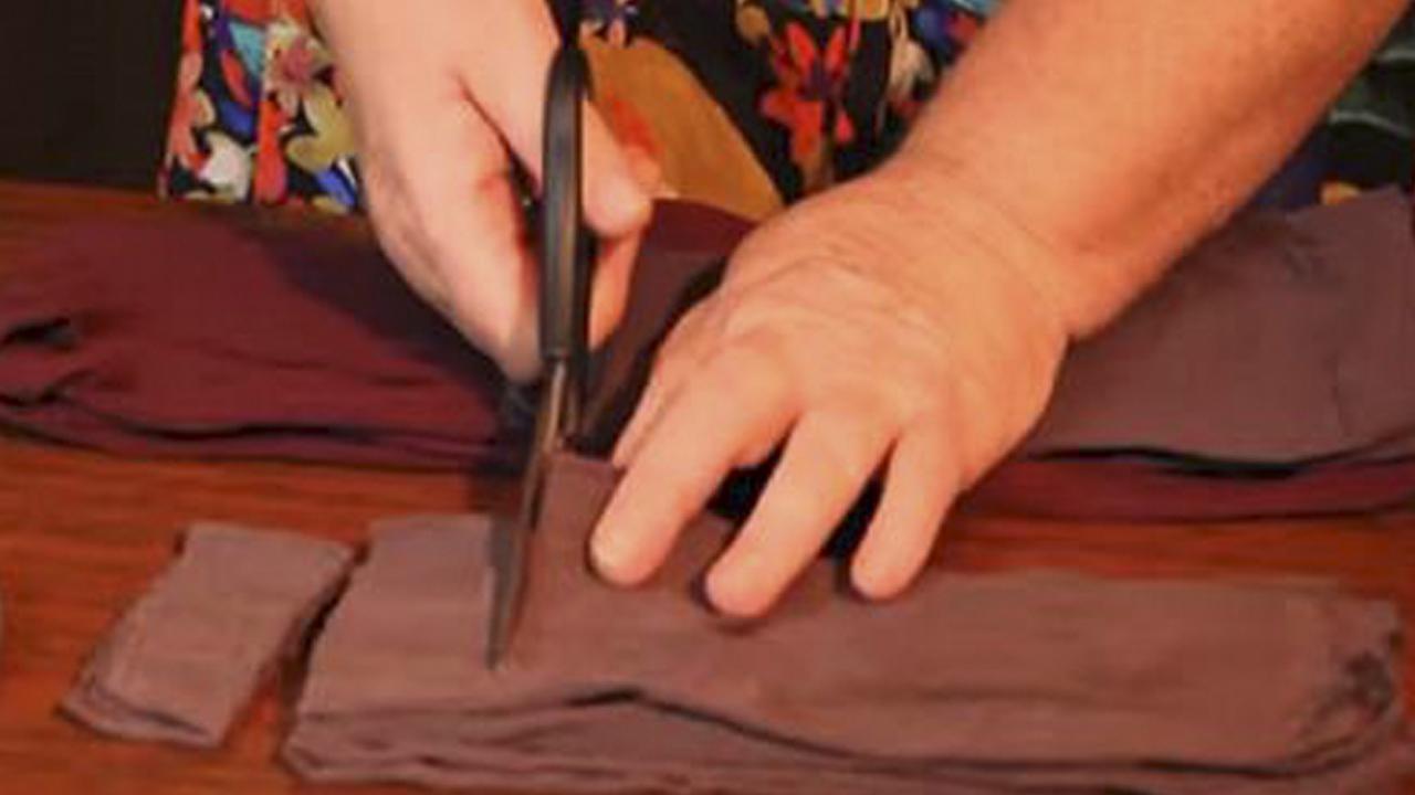 Она разрезала старые капроновые колготки... Результат удивил даже опытных хозяек! Колготки в руках мастера.-