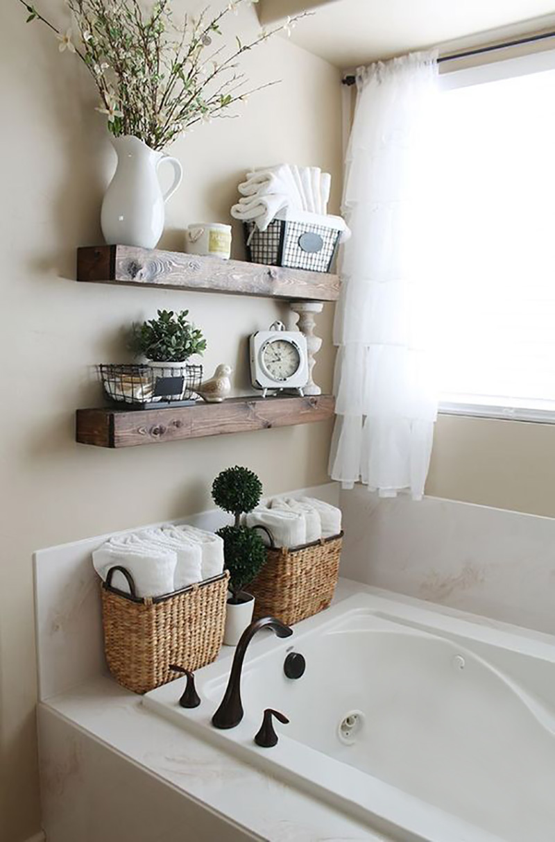 Блестящие идеи организации пространства в ванной комнате. № 7 просто покорил! Как же здорово!