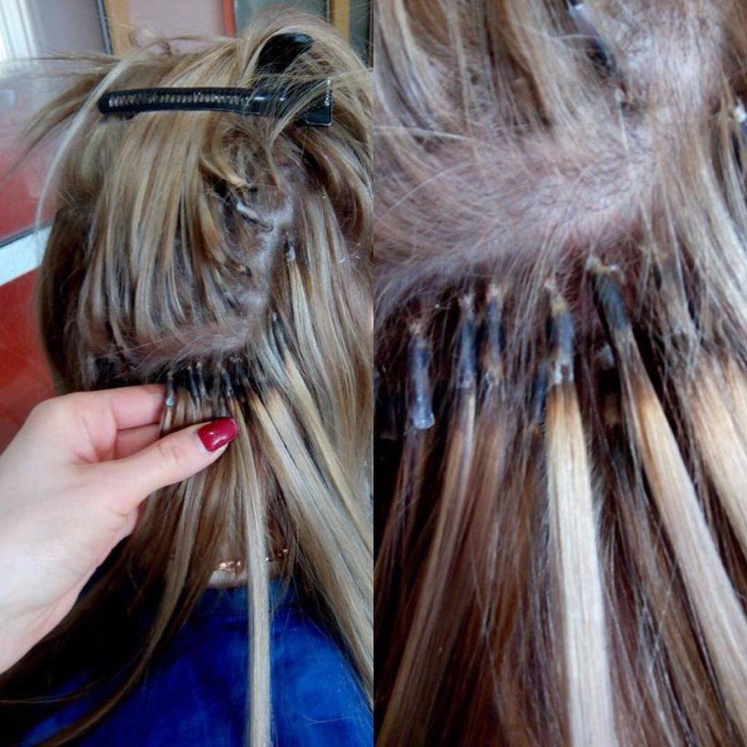 Фото нарощенных волос как своими руками