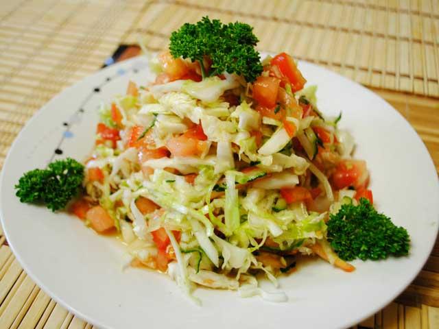 Рецепт салат из капусты с соевым соусом
