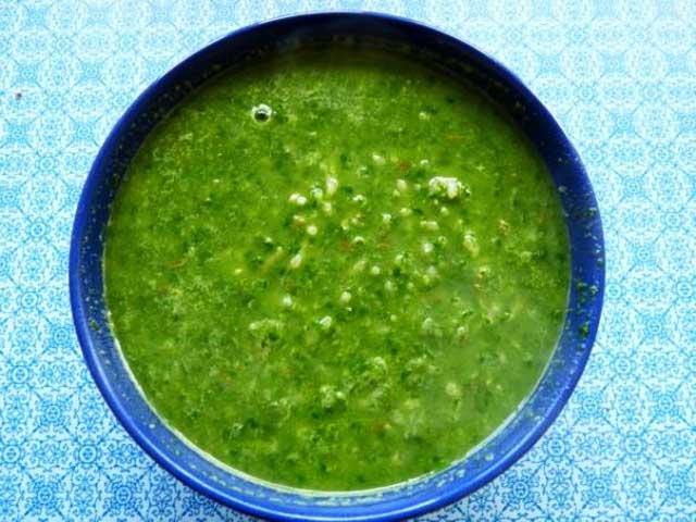 холодный суп из шпината рецепт