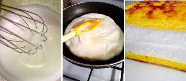 "Совсем недавно пристрастился!</p><p> Unusual Pulyar omelette: you only need 2 products ""/></p></div><p>5. Soon you will realize that the tortilla is ready.</p><p> The protein will become elastic and will stop adhering to the spatula if you touch it. Cut the tortilla in half and fold the protein inside, decorate with vegetables.</p><p> Cheating</p><p style="