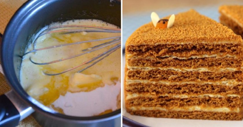 Honey cake in a new way.
