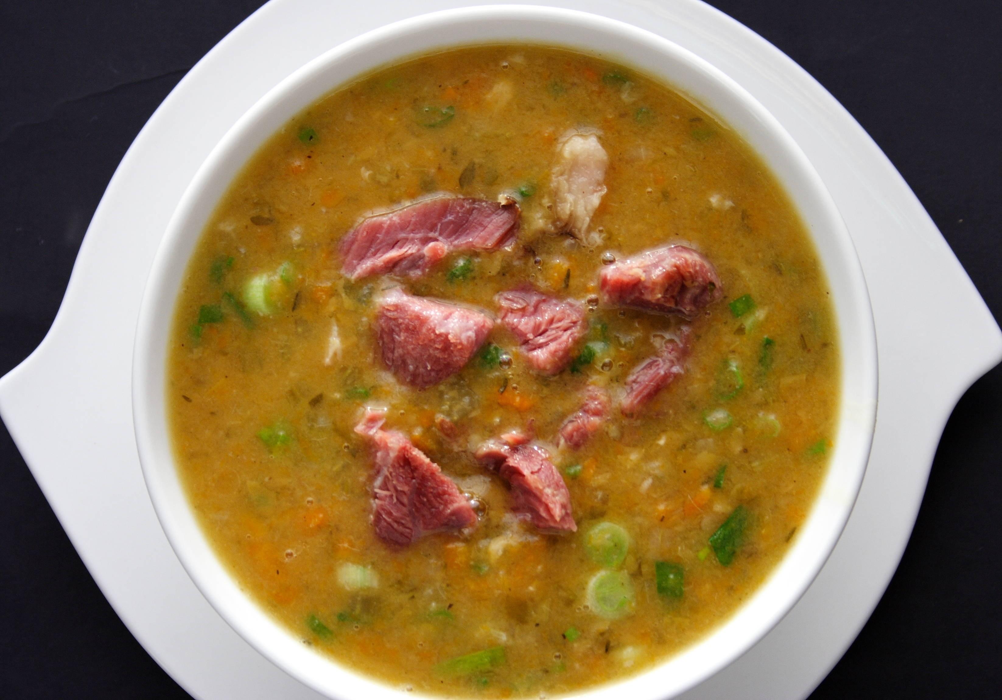 Суп гороховый с копченостями рецепт простой