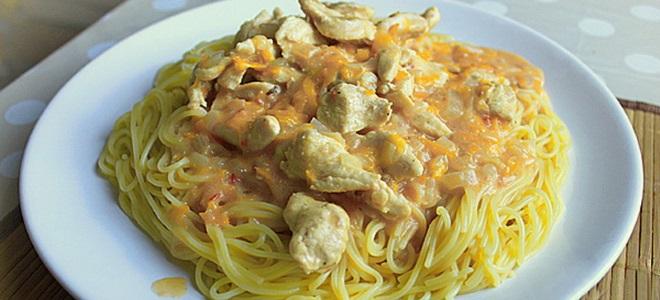 Гуляш из куриного филе - рецепты с подливкой из сметаны, с грибами и овощами.