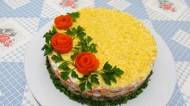 Салат мимоза - лучшие классические рецепты салата мимоза с консервами и сыром картинки