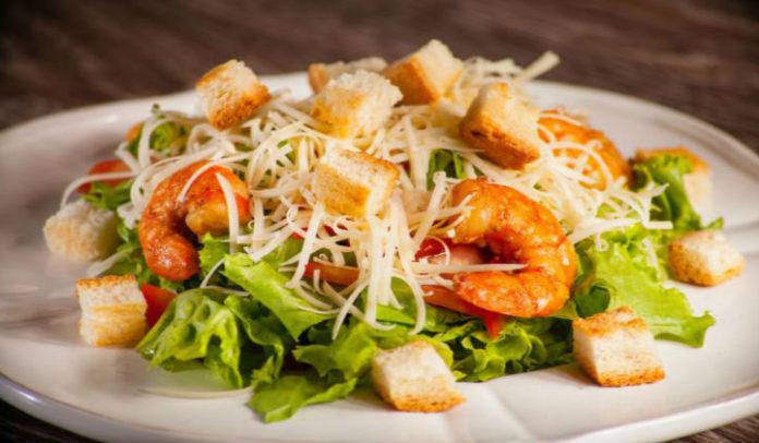 Цезарь с креветками рецепт соуса