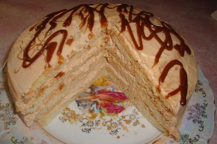 Торт с сгущенным молоком рецепт пошагово