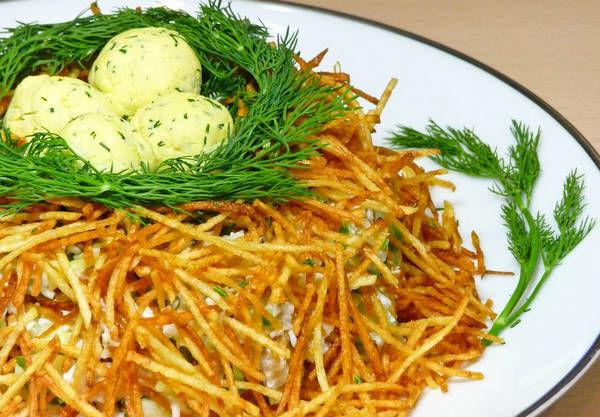 Салат Гнездо глухаря – 5 лучших пошаговых рецептов