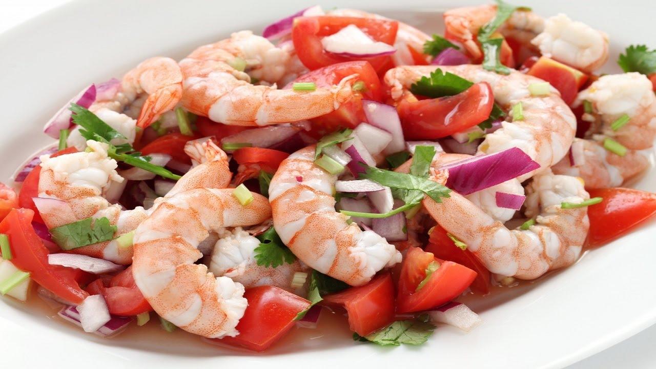 рецепт вкусный салат с креветками