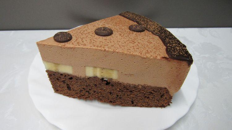 Мега Шоколадный торт с бананами