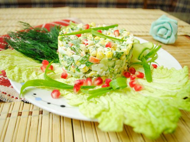 салат с крабами классический рецепт пошаговый