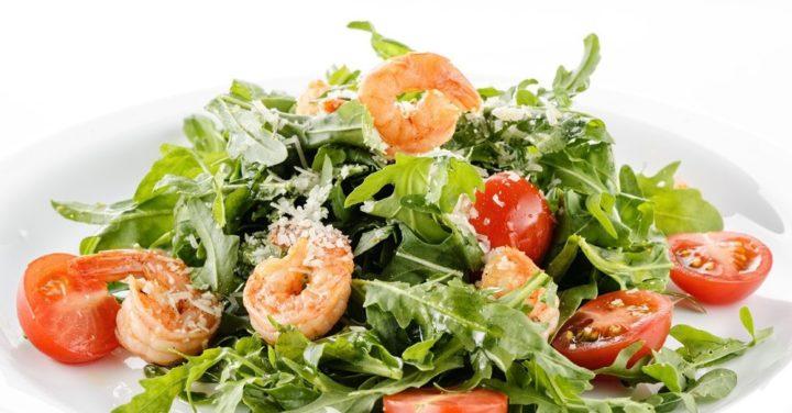 Заправки на салат руккола с креветкой