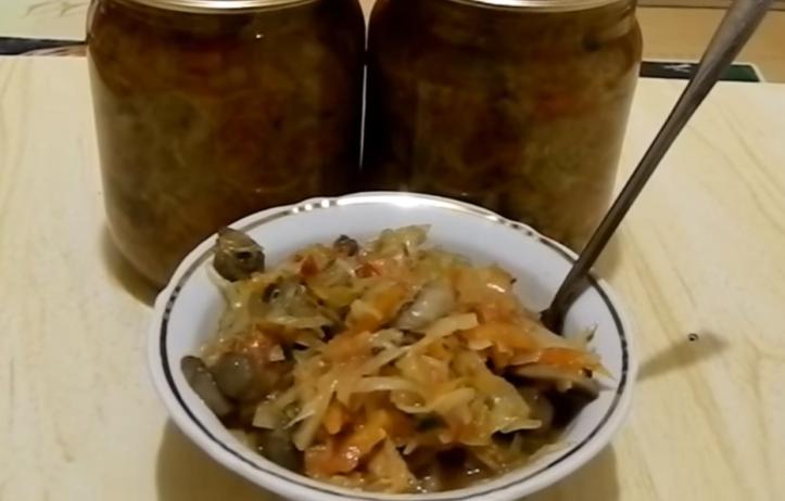 грибы с капустой рецепты на зиму