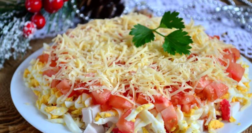 Салат с сыром и помидорами рецепты с простые и вкусные