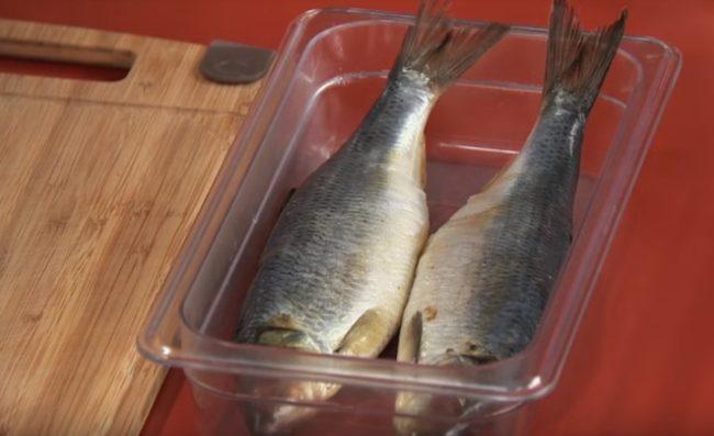Рыба под овощной шубой со сметаной в духовке рецепт