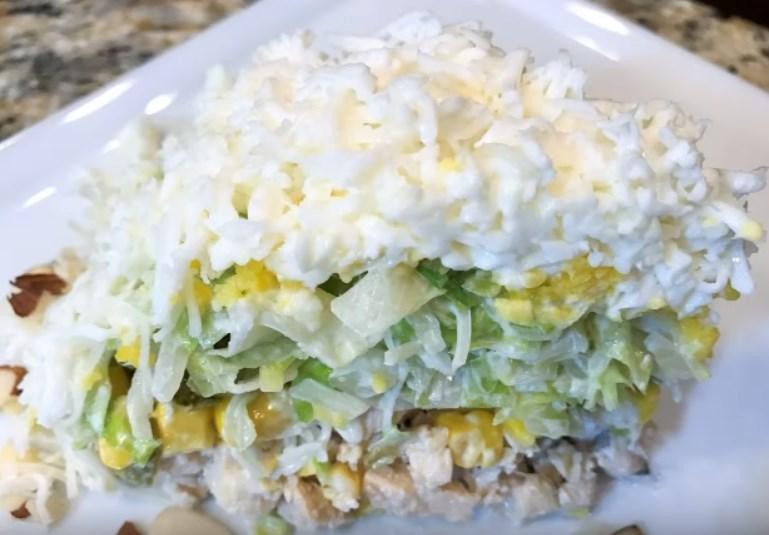 Салат невеста рецепт с фото пошагово классический