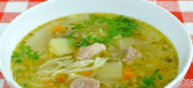 как варить суп с мясом и макаронами и картошкой