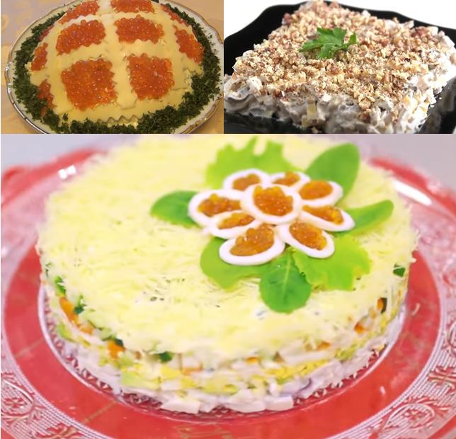 Салаты с кальмарами яйцом и огурцом рецепт с