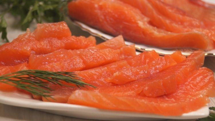 Малосольная красная рыба как в ресторане