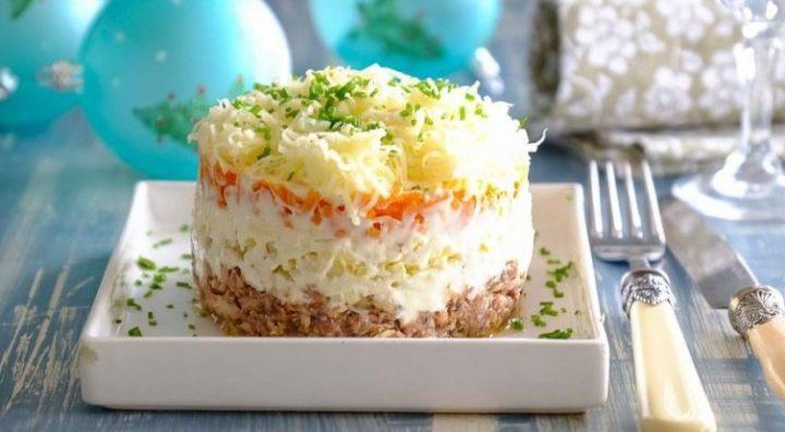 рецепт салата мимоза классический с маслом