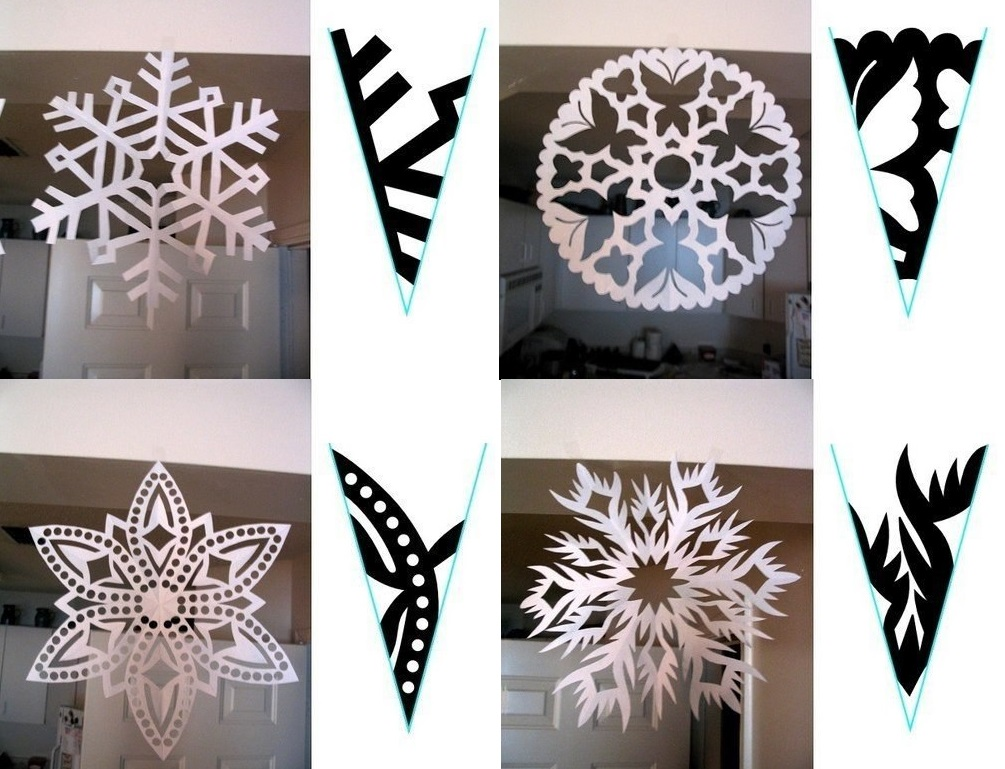 452Как сделать  красивые снежинки из бумаги