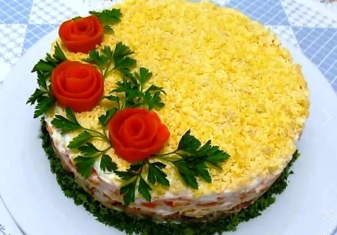 рецепт мимозы салат классический с сыром и маслом