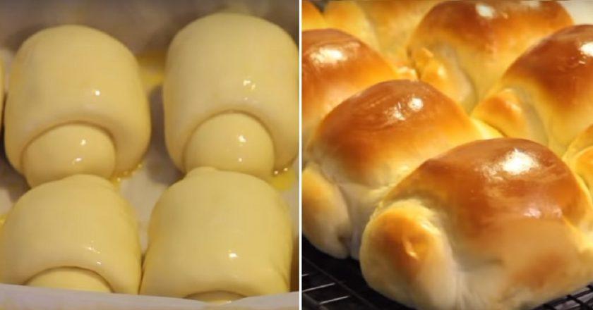 Тесто для булочек «Хоккайдо» увеличивается в 3 раза! Поэтому они такие нереально мягкие. Мудрость японских пекарей поражает.
