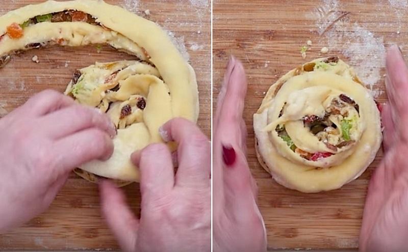 Самый вкусный пасхальный кулич получается лишь по этому рецепту! Тонко раскатай тесто, щедро присыпь... Сверху слегка хрустящий, а внутри нежнейшее тесто.