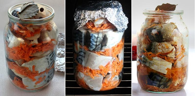 Рыба — песня! Старый и надежный способ приготовления скумбрии в банке в собственном соку. Хороша как в горячем виде, так и в холодном.