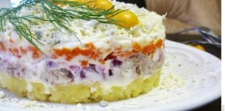 """Салат """"Мимоза"""" с печенью минтая"""